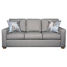 """View Product - 3 encased back pillows over 3 Convo-Lux seat cushion King Sofa w/ 2-1/2"""" Pyramid legs available in Caramel, Black Cherry, Frost, Driftwood or Walnut finish."""