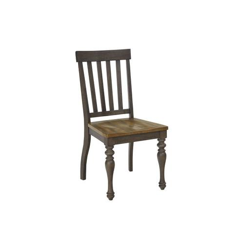 Standard Furniture - Dunmore 2-Pack Side Chairs, Light Toffee Seat with Brown Base