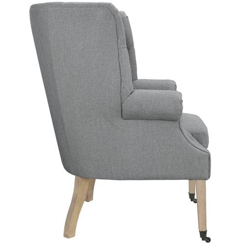Chart Upholstered Fabric Lounge Chair in Light Gray