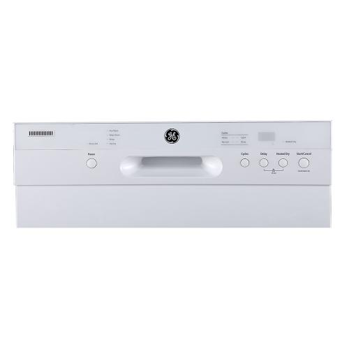 """GE 24"""" Built-In Front Control Dishwasher with Stainless Steel Tall Tub White - GBF410SGPWW"""