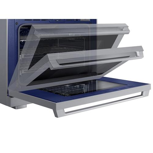 """Samsung - 6.3 cu. ft. 36"""" Chef Collection Professional Dual Fuel Range in Stainless Steel"""