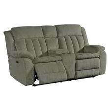 CUDDLER - LAUREL DOVE Power Console Loveseat