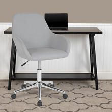 Cortana Home and Office Mid-Back Chair in Light Gray Fabric