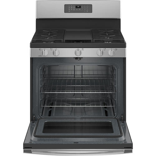 "GE 30"" Self-Clean Freestanding Gas Range Stainless Steel - JCGB660SPSS"
