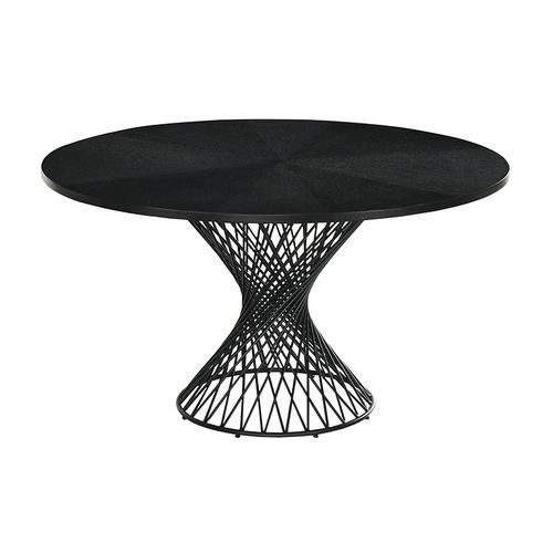 Cirque and Lima 5 Piece Black Round Dining Set