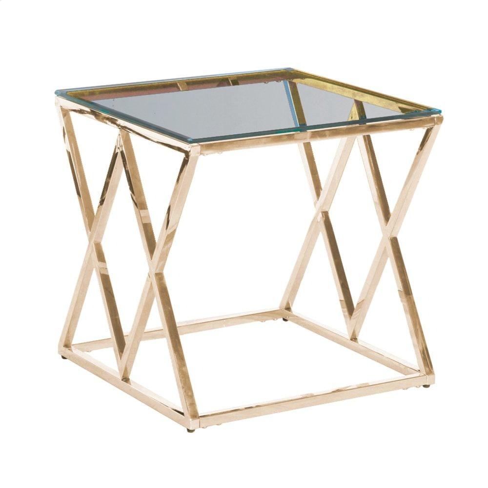 Gold/glass Diamond Accent Table, Kd