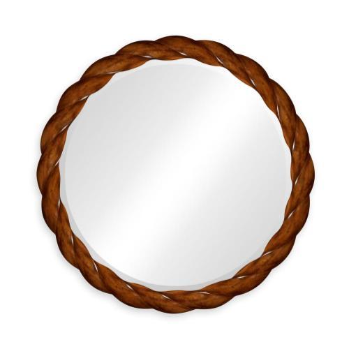 "35"" Walnut twisted mirror"