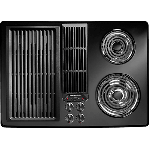 Jed8130adb In Black Floating Glass Nh By Jennair In Middletown Nj Designer Line Modular Electric Downdraft Cooktop 30