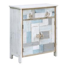 See Details - South Shore Multi Color Nautical Patchwork 1 Drawer, 2 Door Cabinet