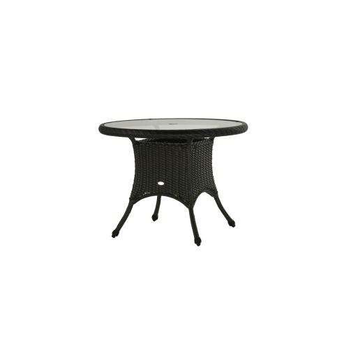 """Sun Valley 36"""" Round Dining Table w/Clear Glass & Umbrella Hole"""