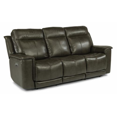 Flexsteel - Miller Power Reclining Sofa with Power Headrests and Lumbar