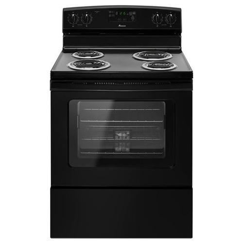 Amana® 30-inch Amana® Electric Range with Self Clean - Black
