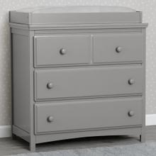 Emerson 3 Drawer Dresser with Changing Top - Grey (026)