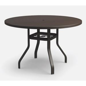 "54"" Round Bar Table (with Hole) Ht: 40"" 37XX Universal Aluminum Base (Model # Includes Both Top & Base)"