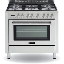 "Stainless Steel 36"" Self Cleaning Dual Fuel Single Oven Range"