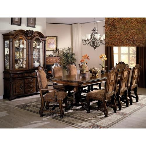 Crown Mark - 7Pc Dining Room Set by CrownMark 2400 Table, 2 Arm Chairs & 4 Side Chairs
