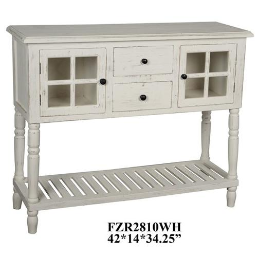 """42x14x34.25"""" TWO DOOR TWO DRAWER CONSOLE,1PC KD PK/7.42'"""