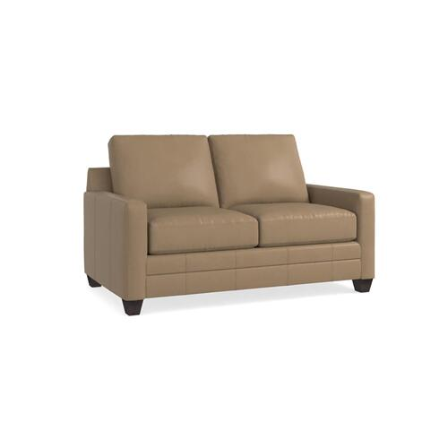 Bassett Furniture - Carolina Leather Thin Track Arm Loveseat