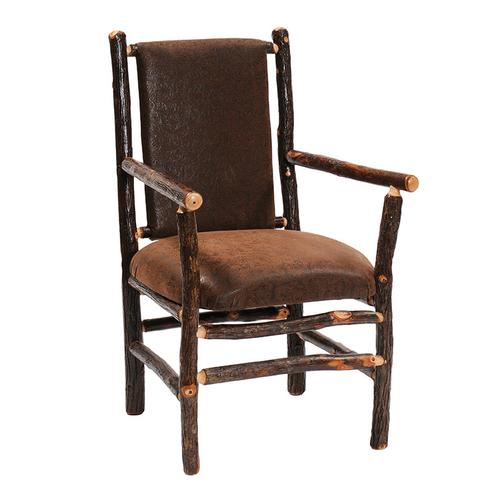 Arm Chair - Natural Hickory - Upgrade Fabric