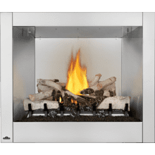 Riverside 36 Clean Face Outdoor Gas Fireplace , Stainless Steel , Natural Gas