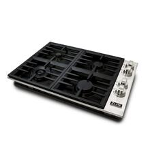 ZLINE 30 in. Dropin Cooktop with 4 Gas Burners and Black Porcelain Top (RC30-PBT)