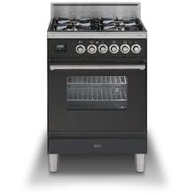 """View Product - 24"""" Professional Plus Series Freestanding Single Oven Gas Range with 4 Sealed Burners in Matte Graphite"""