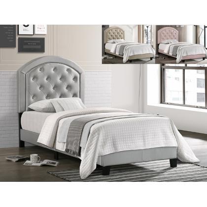 See Details - Gaby Full Platform Bed Adjhb Silver