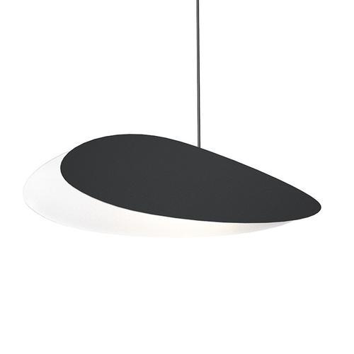 Sonneman - A Way of Light - Papillons LED Pendant [Size=Long Oval Single Pendant, Color/Finish=Satin Black Shade]