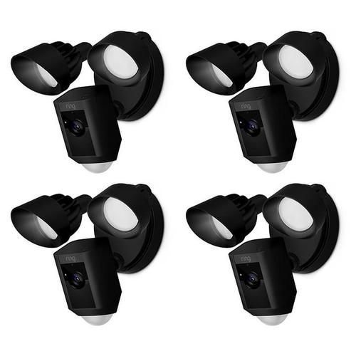 4-Pack Floodlight Cams - Black