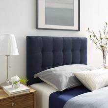 View Product - Lily Twin Upholstered Fabric Headboard in Navy