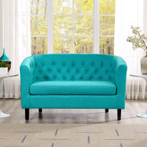 Modway - Prospect Upholstered Fabric Loveseat in Pure Water