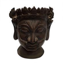 "Masked Head Statue 7w x 10h"""