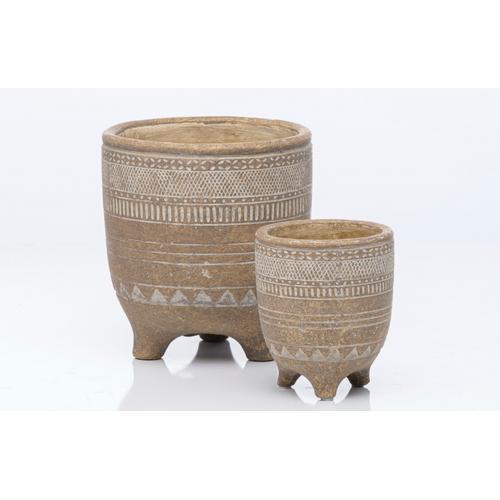 Alfresco Home - Mayan Small Round Bowl Petits Pots Set o2 4 sets per carton