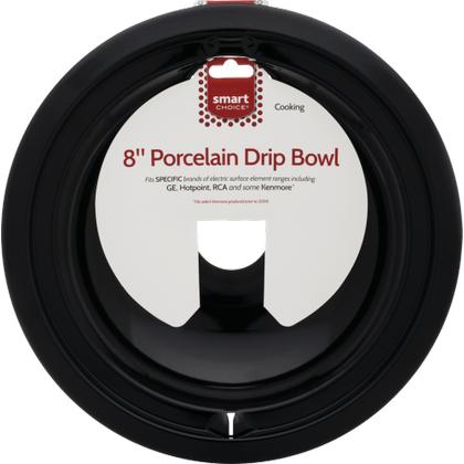 See Details - Smart Choice 8'' Black Porcelain Drip Bowl, Fits Specific