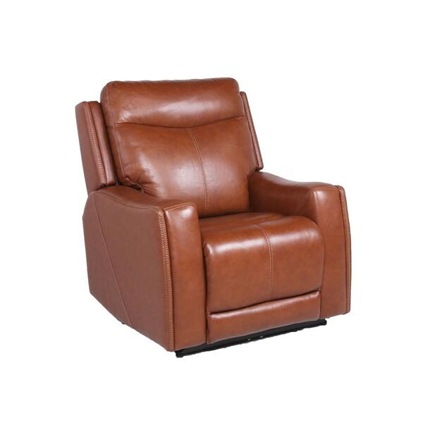 Natalia Dual-Power Leather Recliner, Coach