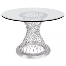 Armen Living Calypso Contemporary Dining Table
