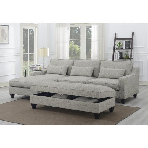 Emerald Home Kenya Rsf Loveseat W/2 Pillows Tan U4539-12-09
