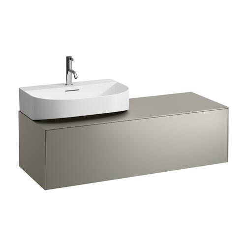 White Matte Drawer element, 1 drawer, matching washbasins 816341, 816342, cut-out left / right