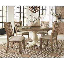 5 PIECE SET (TWO TONE TABLE AND 4 SIDE CHAIRS)