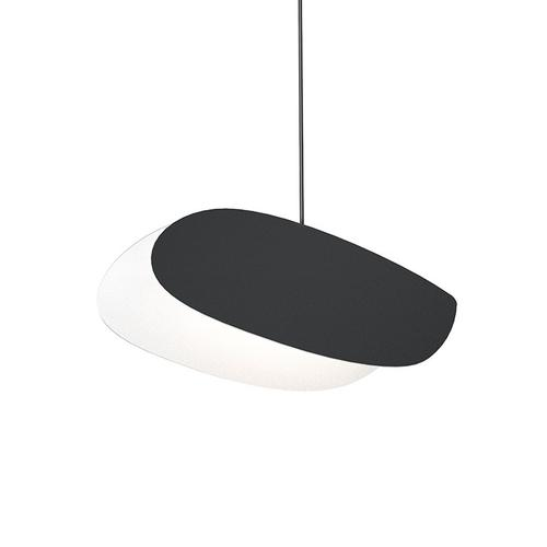 Sonneman - A Way of Light - Papillons LED Pendant [Size=Oval Single Pendant, Color/Finish=Satin Black Shade]