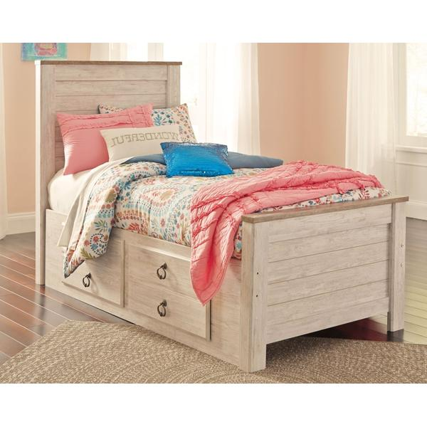 Willowton Twin Panel Bed With 2 Storage Drawers