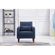 See Details - 8155 NAVY Linen Stationary Basic Chair
