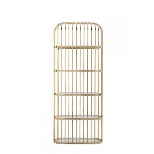 Modrest Doral - Clear Glass & Gold Shelf