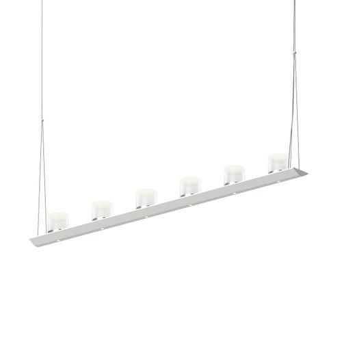 "Sonneman - A Way of Light - Votives LED Bar Pendant [Size=4', Color/Finish=Satin White, Shade Size=3"" height x 3"" diameter]"