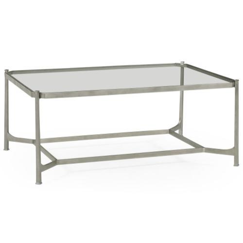 Silver Rectangular Coffee Table