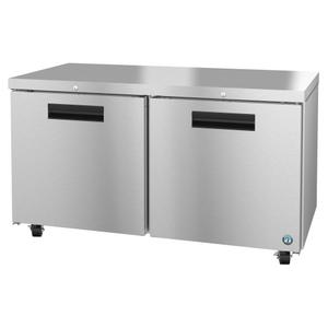 HoshizakiUF60A-01, Freezer, Two Section Undercounter, Stainless Doors with Lock