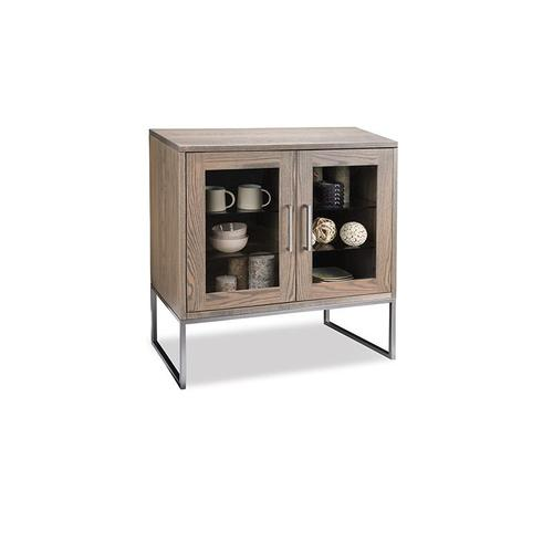 - Electra Sideboard with 2/Glass Doors on Left & 3/Drawers on Right & 2/Glass Adjust Shelves