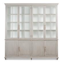 Harper Glass Front Bookcase