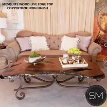 Mesquite Wood Rectangular Coffee Table
