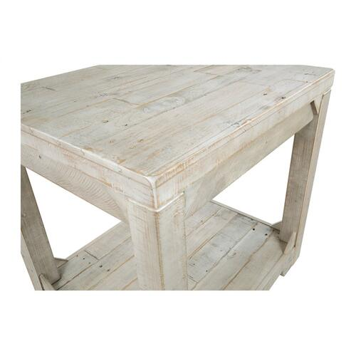 Fregine Rectangular End Table Whitewash
